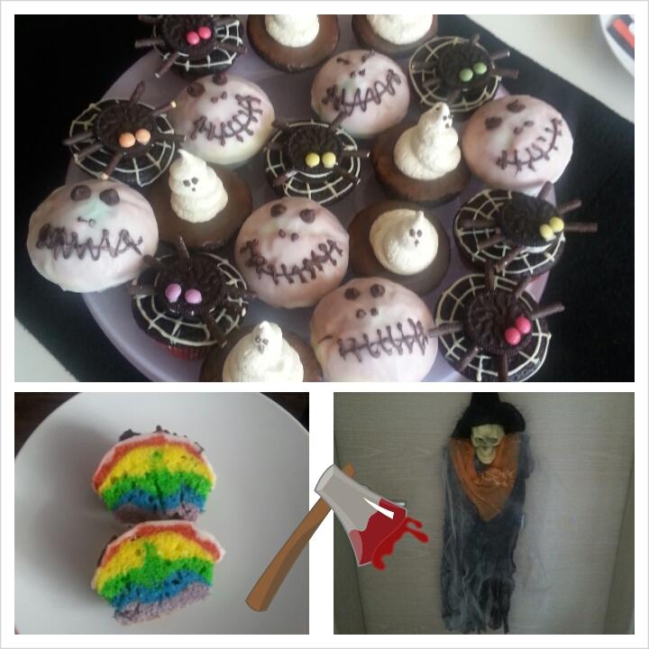 Kindergeburtstag gruselparty essen raum und m beldesign for Zimmer deko cupcake