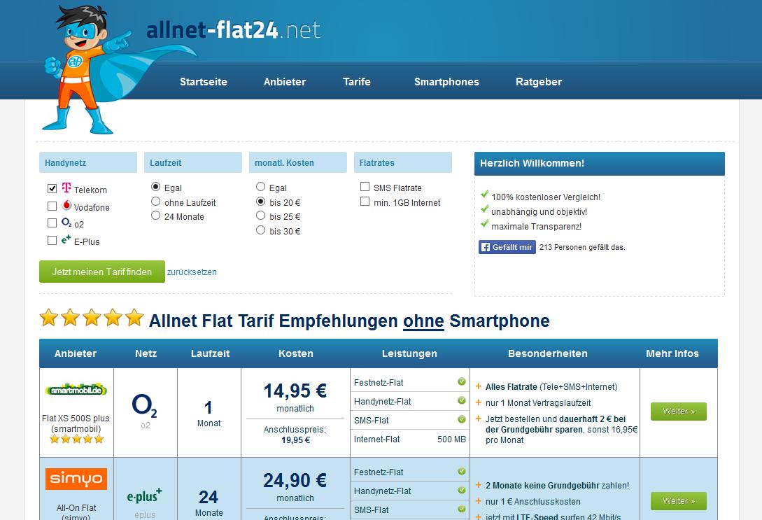 Allnet-Flat24 Sceenshot