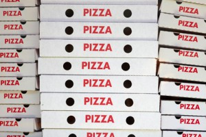 Viele Pizzakartons